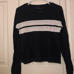 Abercrombie & Fitch Striped Long Sleeve Top